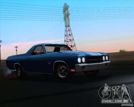 Chevrolet EL Camino SS 70 para GTA San Andreas vista superior