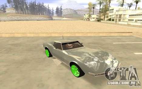 Chevrolet Corvette Stingray Monster Energy para GTA San Andreas traseira esquerda vista