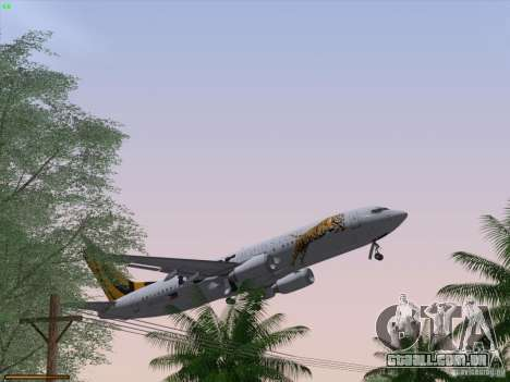 Boeing 737-800 Tiger Airways para GTA San Andreas interior