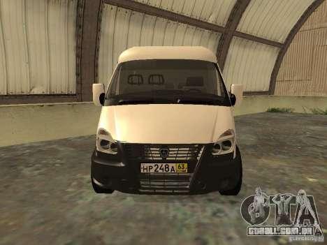 GAZ 2752 Sobol negócios para GTA San Andreas vista direita