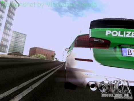 BMW M5 Touring Polizei para vista lateral GTA San Andreas