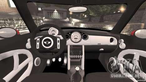 Mini Cooper S v1.3 para GTA 4 vista de volta