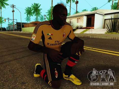 Mario Balotelli v3 para GTA San Andreas quinto tela