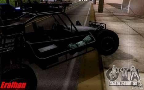 Desert Patrol Vehicle para GTA San Andreas vista traseira