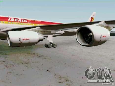 Airbus A-340-600 Iberia para GTA San Andreas vista traseira