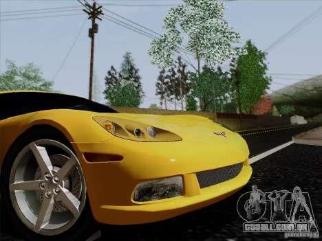 Chevrolet Corvette Z51 para GTA San Andreas traseira esquerda vista