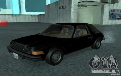 AMC Pacer para GTA San Andreas vista interior