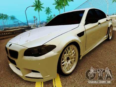 BMW M5 F10 HAMANN para GTA San Andreas esquerda vista