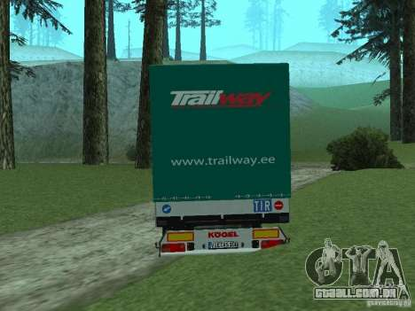 Trailer KOGEL para GTA San Andreas esquerda vista
