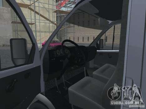 Gazela 2705 Gruzopasažirskaâ para GTA San Andreas vista interior