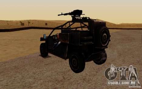 Buggy VDV de Battlefield 3 para GTA San Andreas traseira esquerda vista