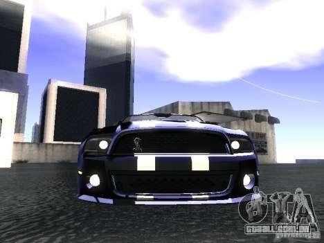 Ford Mustang Shelby GT500 para GTA San Andreas vista direita