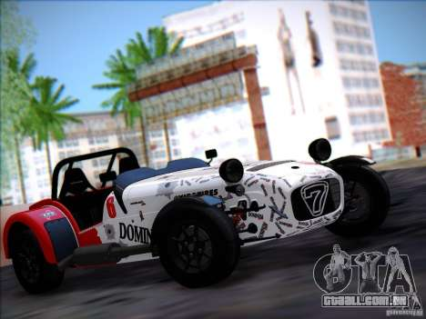 Caterham Superlight R500 para GTA San Andreas traseira esquerda vista