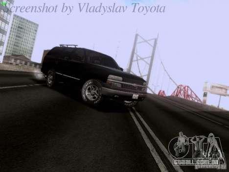 Chevrolet Tahoe 2003 SWAT para GTA San Andreas esquerda vista