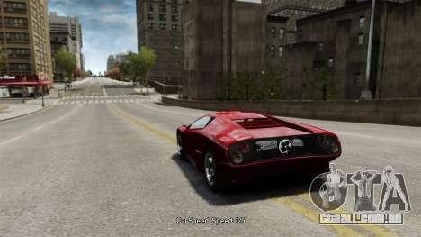 Velocidade do veículo para GTA 4 terceira tela
