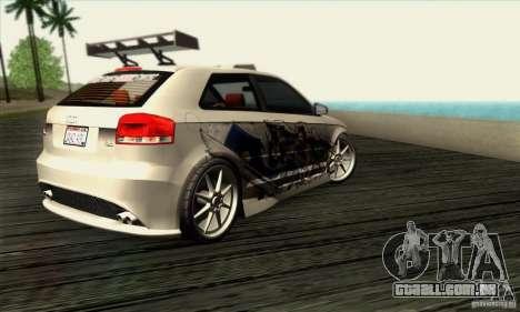 Audi A3 Tunable para GTA San Andreas vista direita
