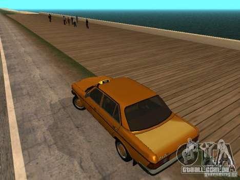 Mercedes-Benz 240D Taxi para GTA San Andreas esquerda vista