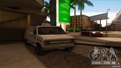 Chevrolet Van G20 para GTA San Andreas traseira esquerda vista