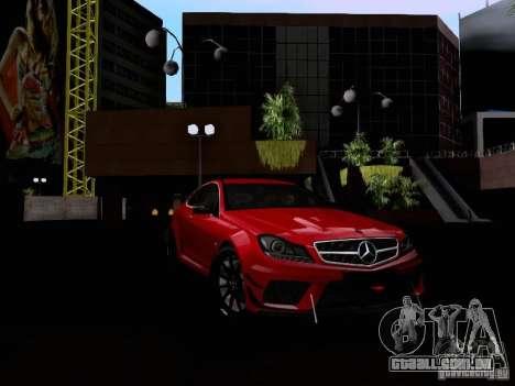 Mercedes-Benz C63 AMG 2012 Black Series para GTA San Andreas vista interior