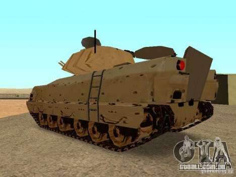 M2A3 Bradley para GTA San Andreas vista direita