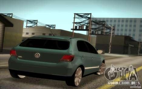 Volkswagen Golf G5 para GTA San Andreas traseira esquerda vista