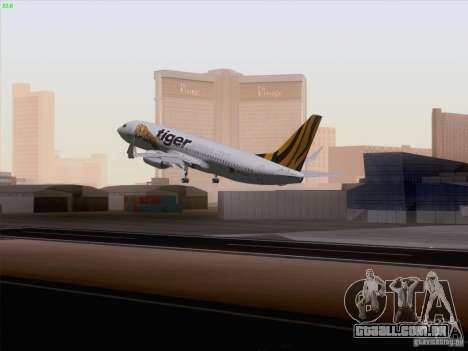 Boeing 737-800 Tiger Airways para GTA San Andreas esquerda vista