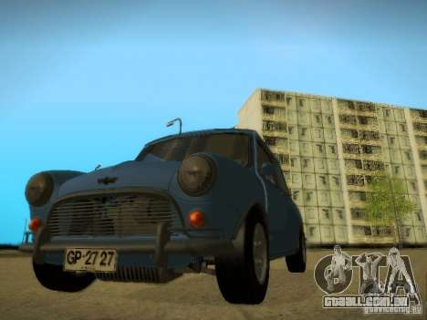 Mini Cooper 1965 para GTA San Andreas vista traseira