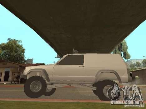 Jeep Cherokee 1984 v.2 para GTA San Andreas vista traseira