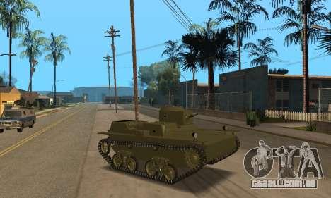 T-38 para GTA San Andreas esquerda vista