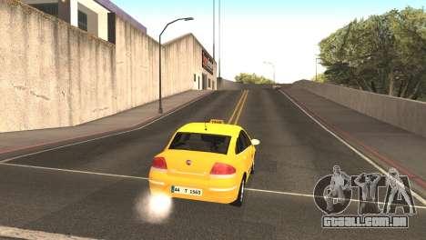 Fiat Linea Taxi para GTA San Andreas vista direita