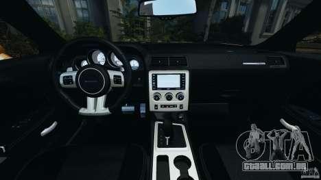 Dodge Challenger SRT8 392 2012 [EPM] para GTA 4 vista de volta