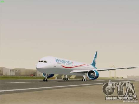 Boeing 787-8 Dreamliner AeroMexico para GTA San Andreas vista direita