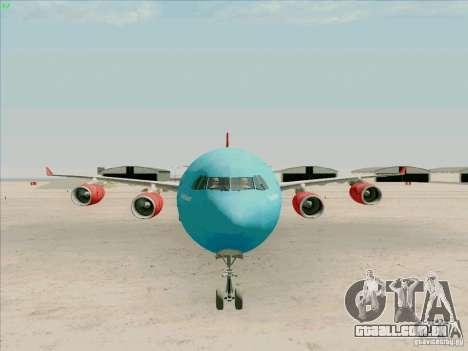Airbus A-340-600 Plummet para GTA San Andreas vista traseira
