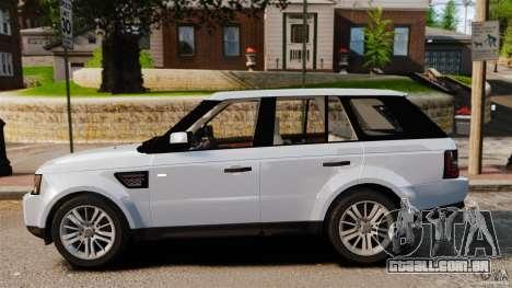 Land Rover Range Rover Sport Supercharged 2010 para GTA 4 esquerda vista