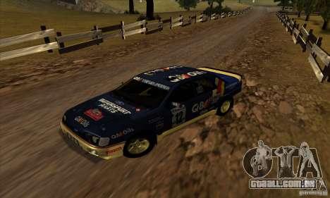 Ford Sierra RS500 Cosworth RallySport para GTA San Andreas esquerda vista