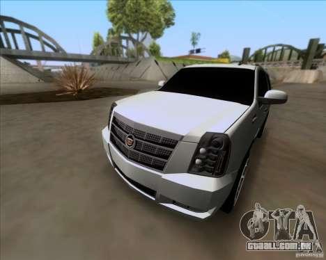 Cadillac Escalade ESV Platinum 2013 para vista lateral GTA San Andreas