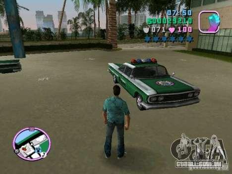 Voodoo Police para GTA Vice City vista traseira esquerda