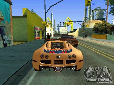 Bugatti Veyron Indonesian Police para GTA San Andreas vista direita