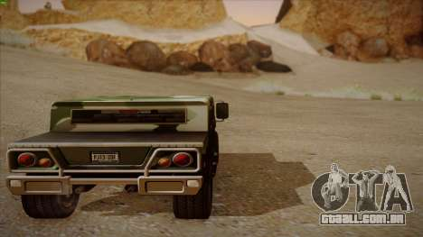 HD Patriot para GTA San Andreas vista interior
