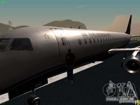 Embraer ERJ 190 USAirways para vista lateral GTA San Andreas