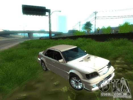 Mercedes-Benz W124 BRABUS para GTA San Andreas vista interior