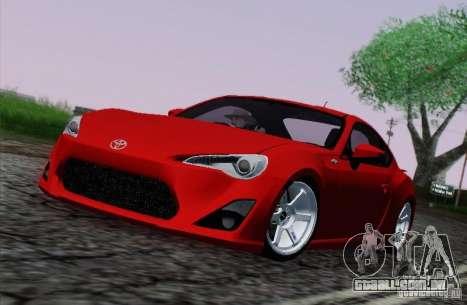 Toyota GT86 para vista lateral GTA San Andreas