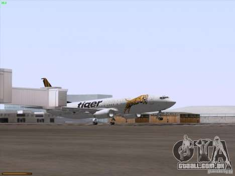Boeing 737-800 Tiger Airways para GTA San Andreas vista superior
