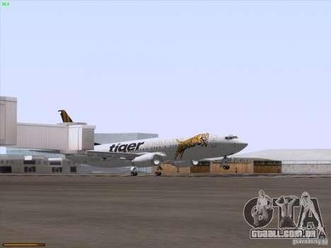 Boeing 737-800 Tiger Airways para GTA San Andreas vista superior