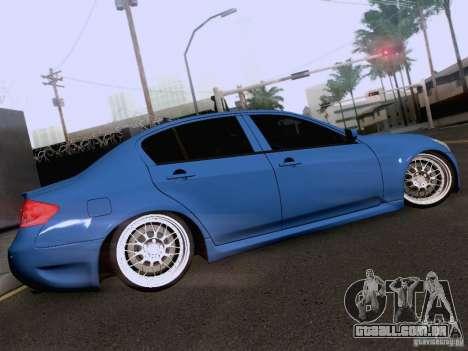Infiniti G37 Sedan para GTA San Andreas interior
