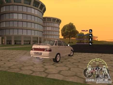 Velocímetro Lada Priora para GTA San Andreas quinto tela