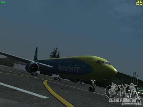 Boeing 767-300 AeroSvit Ukrainian Airlines para GTA San Andreas esquerda vista