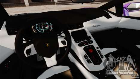 Lamborghini Aventador LP700-4 2012 Galag Gumball para GTA 4 vista de volta