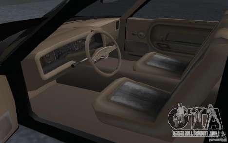 AMC Pacer para GTA San Andreas traseira esquerda vista
