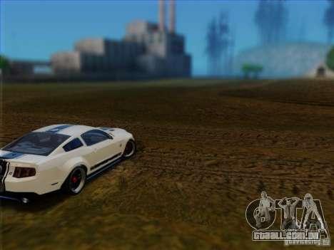 Ford Shelby GT500 SuperSnake NFS The Run Edition para GTA San Andreas traseira esquerda vista